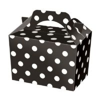 Black Polka Dot / Spot Meal Party Box